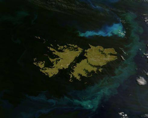 Falkland Islands, southern Argentina.